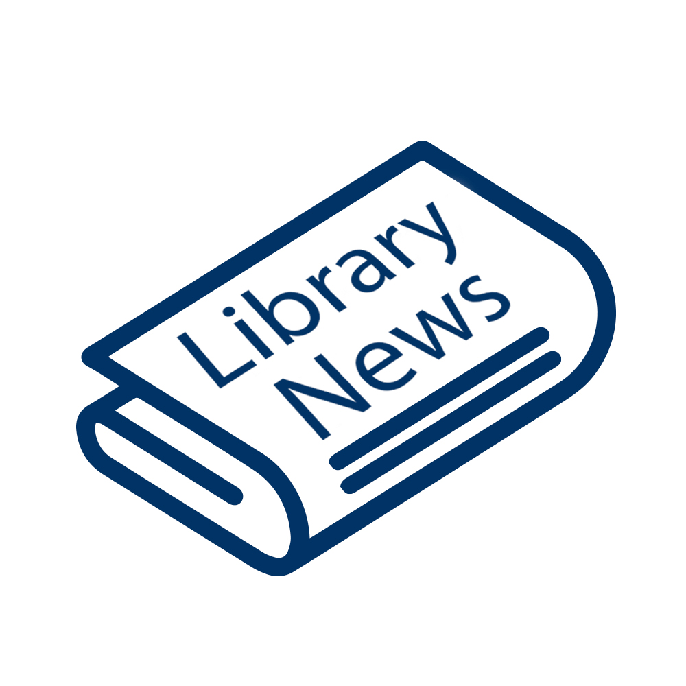 "Newsletter with ""Library News"" headline"