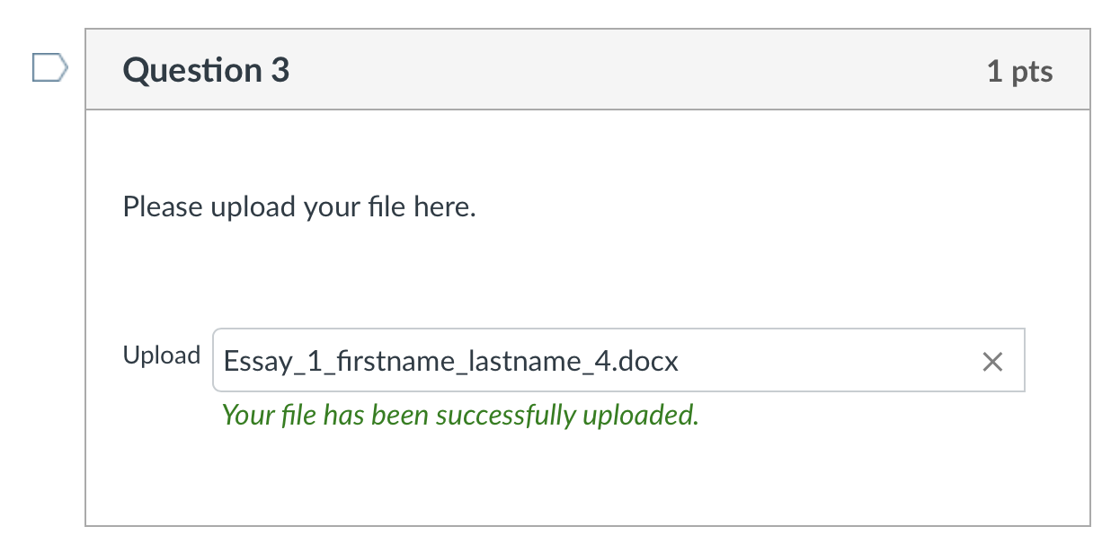 Your file has been successfully uploaded
